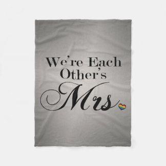 Nós somos Sra. de cada um Cobertor De Velo