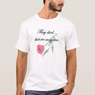 Nós vivemos t-shirt do dia da relembrança