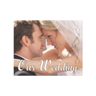 Nossas canvas da foto do casamento