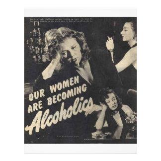 Nossas mulheres são alcoólicos tornando-se! panfletos