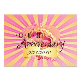 Nosso aniversário convite 12.7 x 17.78cm