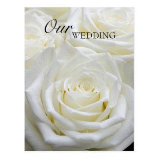 Nosso cartão do casamento cartão postal