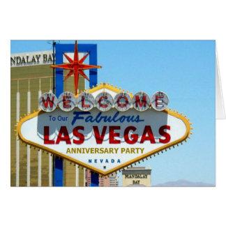 Nosso cartão fabuloso do aniversário de Las Vegas