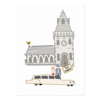 Nosso casamento cartao postal