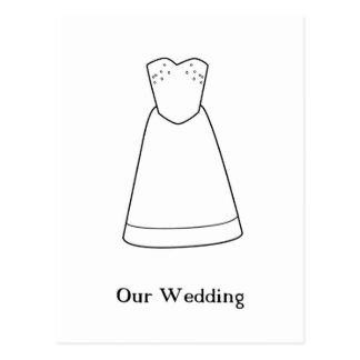 Nosso casamento cartões postais