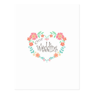 Nosso casamento cartão postal