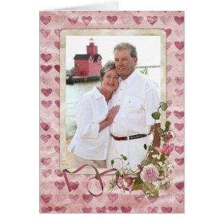 Nosso Love Story Cartão Comemorativo