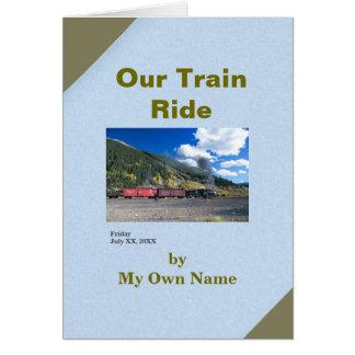 Nosso modelo da Mini-Memória das férias Cartão Comemorativo