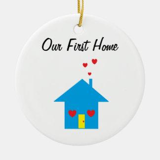 """""""Nosso primeiro"""" ornamento Home"""