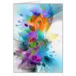 Nota colorida e legal bonita da música do splatter cartão