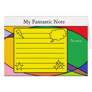Nota de formas cartão de nota