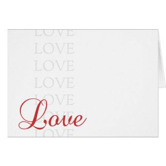 Nota do amor cartão de nota