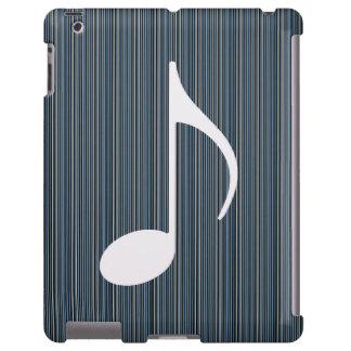 nota musical e listras finas capa para iPad