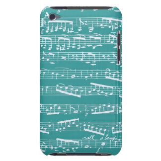 Notas azuis da música do Aqua Capa iPod Touch