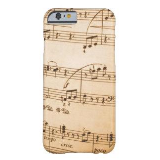 Notas da música capa barely there para iPhone 6