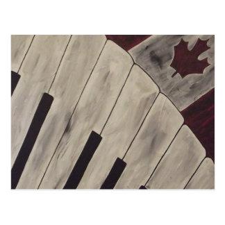 Notas da música de Canadá Cartão Postal