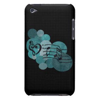 Notas da música e bolinhas - cerceta/capa de ipod capa para iPod touch