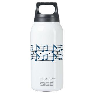 Notas da música garrafa de água térmica