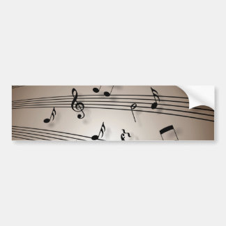 Notas da música - partitura adesivo para carro