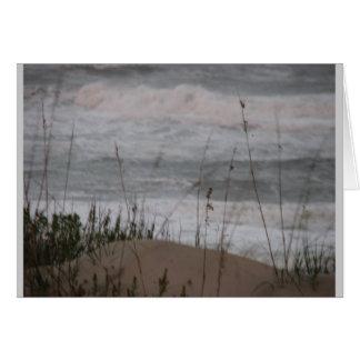 Notas da praia cartão de nota