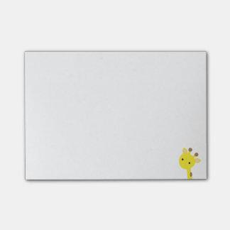Notas de post-it do girafa sticky notes