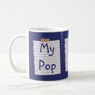 Notas do amor para o pop caneca de café