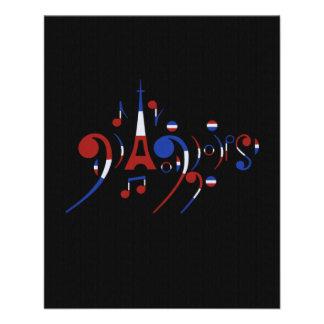 Notas musicais de Paris Flyer 11.43 X 14.22cm