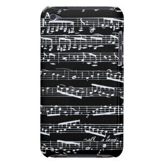 Notas preto e branco da música capa para iPod touch