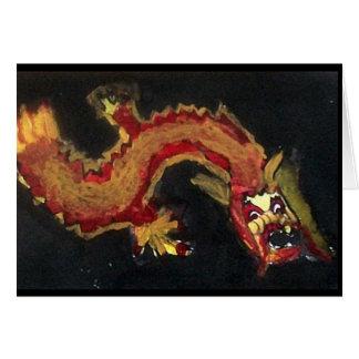 notecard do dragão do fogo cartão
