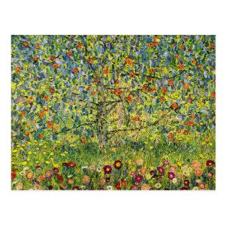 Nouveau da arte da pintura de Gustavo Klimt a árvo Cartões Postais