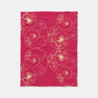 Nouveau vermelho cobertor de lã