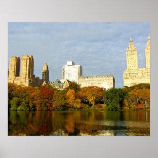 Nova Iorque do humor do outono do Central Park Poster