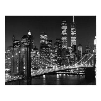 Nova Iorque preta & branca Cartão Postal