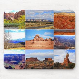 Nove ícones da paisagem de Utá Mouse Pad