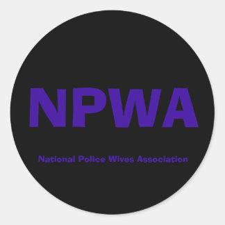 NPWA, associação das esposas da polícia nacional Adesivo