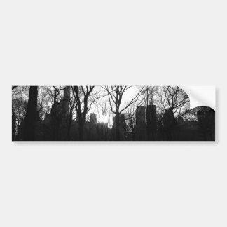 Nr preto 5 do Central Park do branco NY Adesivo Para Carro