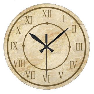 Numerais romanos do olhar de pedra elegante relógio para parede