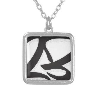 Número 23 colar banhado a prata