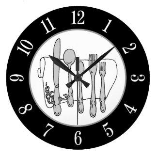 Número branco do guardanapo branco cinzento da relógios para pendurar