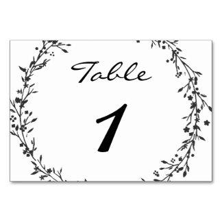 Número floral da mesa do casamento da grinalda