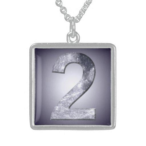 Número místico do símbolo dois lunar afortunado colares personalizados