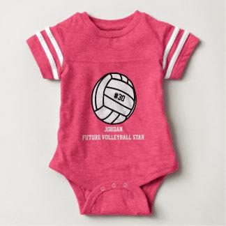 Número personalizado do jogador de voleibol, nome, camisetas