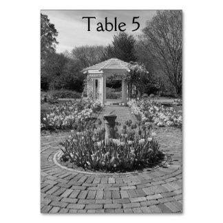 Números brancos da mesa do miradouro do design da