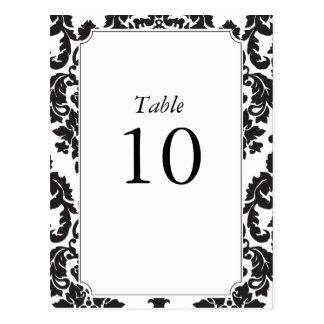 Números clássicos da mesa do damasco cartão postal