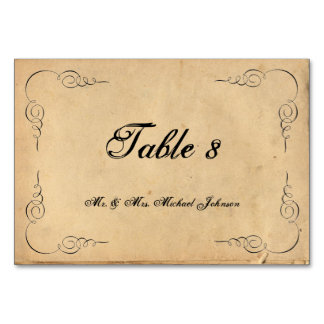 Números da mesa do convidado do papel de Brown do