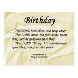 Números do aniversário 6-24 cartoes postais