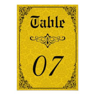 Números góticos da mesa do casamento do Victorian Convite 12.7 X 17.78cm