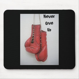 Nunca dê acima, as luvas de encaixotamento MOUSEPA Mousepad