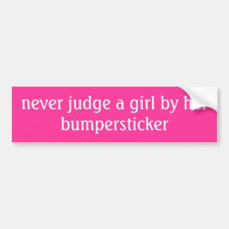 nunca julgue uma menina por seu bumpersticker adesivo para carro