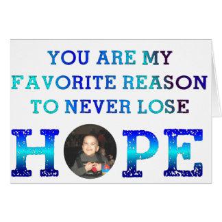 Nunca perca a esperança - Caiden Cartão